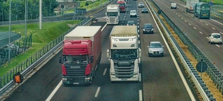 a moving trucks
