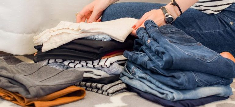 Preparing your clothes for long-term storage