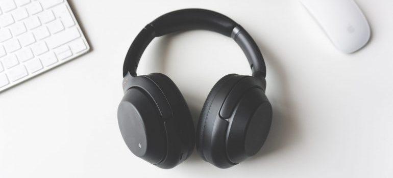 storage units Falls Church VA- headphones