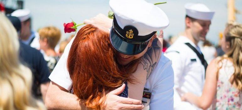 A soldier and his wife