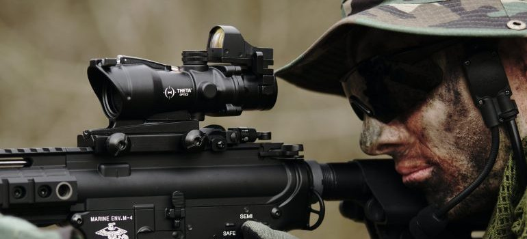 image of a soldier aiming