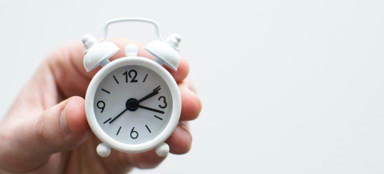 A small clock.