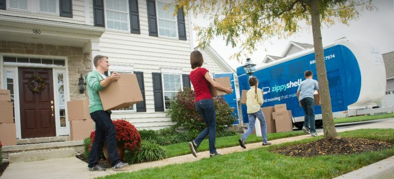 a family preparing for a move