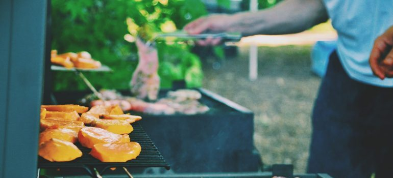 settle after moving to Frederick by having your friends over for barbecue