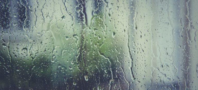 rain on a glass