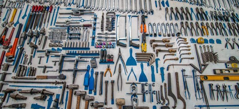 a large amount of tools