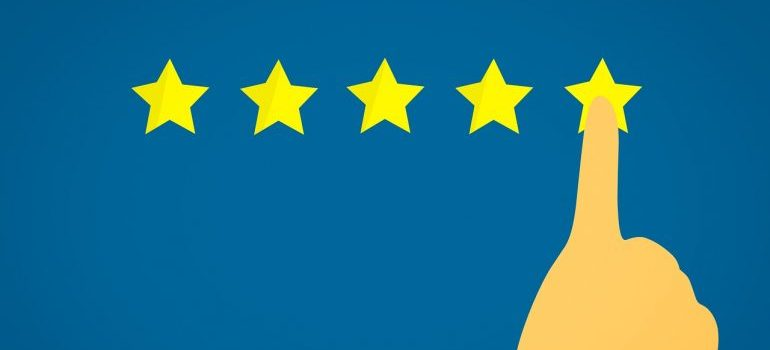 Picture of five star rating. One of the biggest military relocation mistakes is hiring amateur movers
