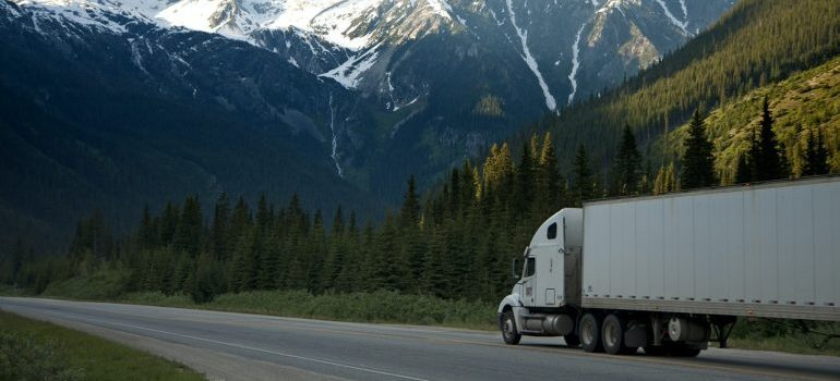 Picture of a truck. Renting moving trucks is a good idea if you want to save money when moving