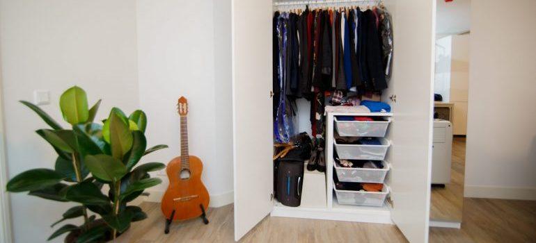 An organized wardrobe