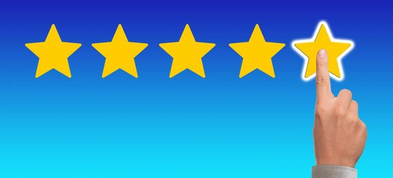 Picture of a five-star rating