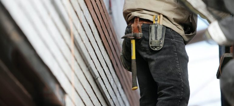 A contractor with a tool belt.