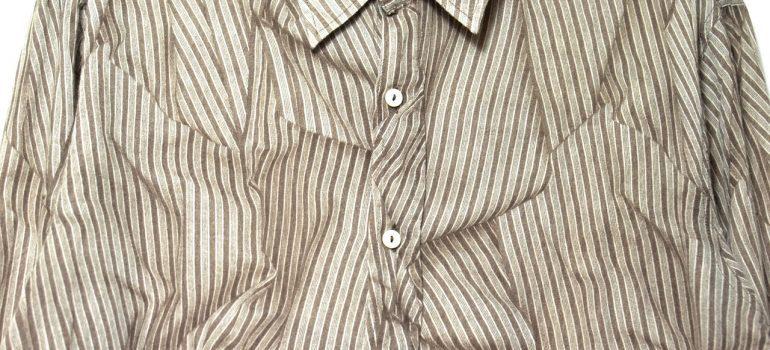 A heavily wrinkled shirt.