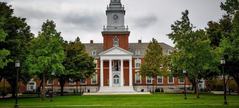 A view of John Hopkins University.