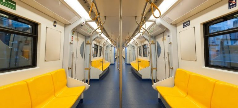 Picture of a metro train