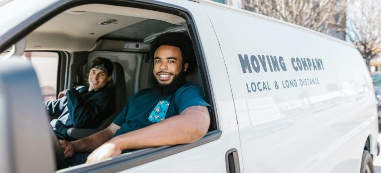 Picture of professional movers. Pro movers and storage units help seniors move