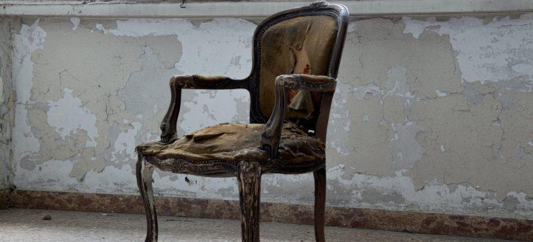 A broken chair