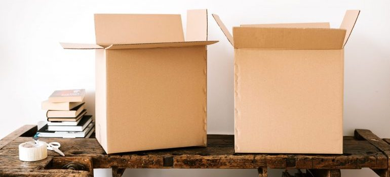 Uniform-sized boxes are a necessity when you prep your storage unit for fall days